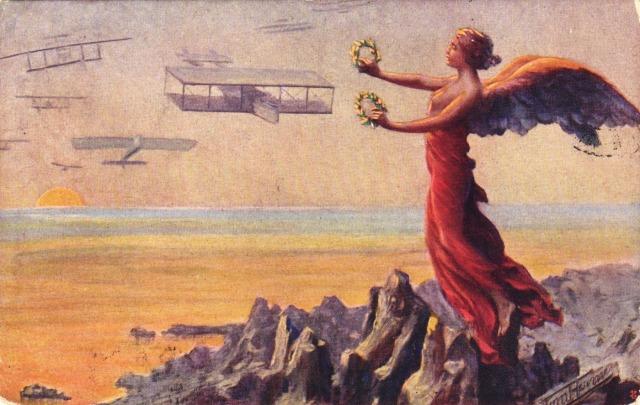 I Garibaldini del Cielo Cromoscultura A.Traldi Cartolina postale originale Datata  24-02-1918